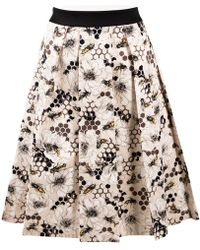 Carolina Herrera - Mid-length Skirt - Lyst