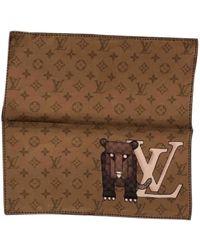 Louis Vuitton - Brown Silk Scarves & Pocket Squares - Lyst