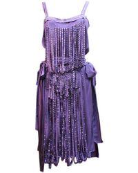 Lanvin - Purple Dress - Lyst