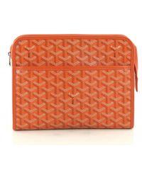 Goyard - Pre-owned Cloth Clutch Bag - Lyst