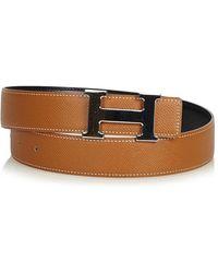 Hermès - Brown Leather - Lyst