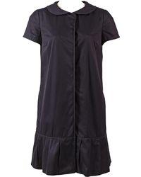 Vera Wang - Navy Cotton Dress - Lyst