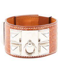 Hermès - Collier De Chien Brown Alligator Bracelets - Lyst