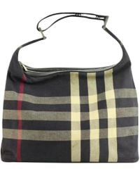 2b24bb41e201 Lyst - Burberry Cloth Handbag
