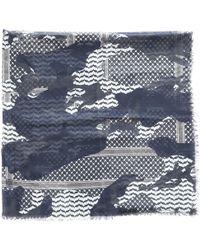 Neil Barrett - Grey Cotton Scarves & Pocket Squares - Lyst