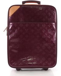 d056726bcc4 Louis Vuitton - Pre-owned Pegase Purple Patent Leather Travel Bags - Lyst