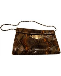 Stuart Weitzman - Pre-owned Clutch Bag In A Python Print - Lyst