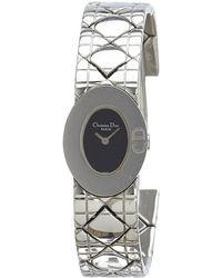 Dior - Pre-owned Vintage Silver Steel Watches - Lyst