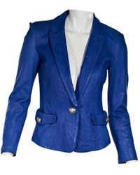 Emilio Pucci - Pre-owned Leather Blazer - Lyst