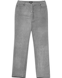 Chanel | Pre-owned Grey Cotton - Elasthane Jeans | Lyst