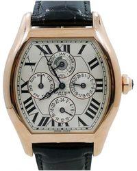 592cdd90ce Cartier - Mens Tortue Perpetual Calendar Xl In 18k Rose Gold W  Box - Lyst