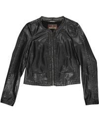 Lyst - Roberto Cavalli Fringed Leather Jacket in Black c04b6e4b8