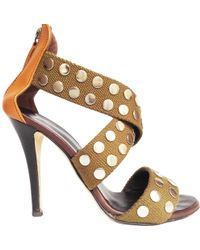 Giuseppe Zanotti - Khaki Leather Sandals - Lyst