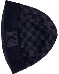 d04fe6c6ee5 Louis Vuitton - Black Wool Hats   Pull On Hats - Lyst