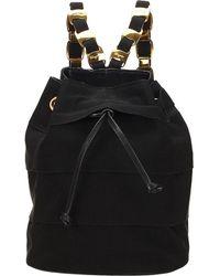 Ferragamo - Vintage Black Cloth Backpacks - Lyst