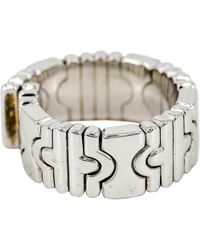 BVLGARI - Parentesi Silver White Gold Ring - Lyst