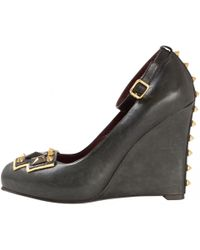 Marc By Marc Jacobs - Black Leather Heels - Lyst