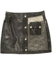 Belstaff - Pre-owned Leather Mini Skirt - Lyst