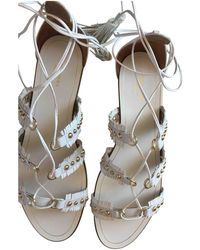 Aquazzura - Pre-owned White Leather Sandals - Lyst