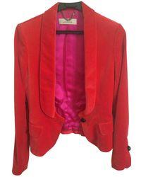 By Malene Birger - Red Velvet Jacket - Lyst