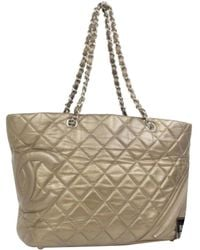 931015c19a62c5 Chanel Cambon Line Large Toto Bag in Brown - Lyst