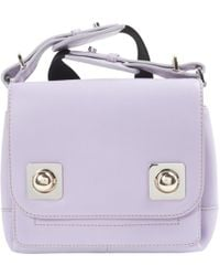 Carven - Purple Leather Clutch Bag - Lyst