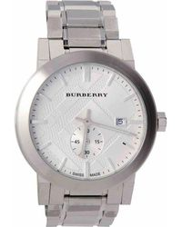 6f9196685f Burberry Stainless Steel Watch in Metallic for Men - Lyst
