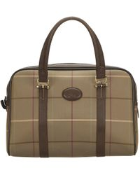 331bb2d972df Burberry Cloth Handbag in Brown - Lyst