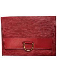 Louis Vuitton - Leather Clutch Bag - Lyst