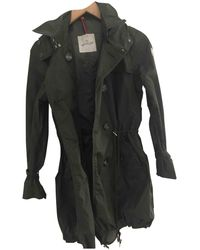 Moncler - Pre-owned Khaki Synthetic Coat - Lyst