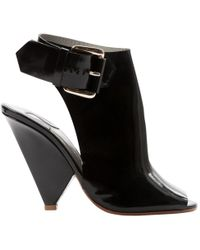 Chloé - Pre-owned Black Patent Leather Sandals - Lyst