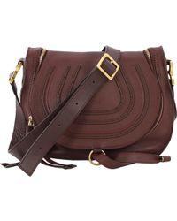 ad22f600b10 Chloé Marcie Small Crossbody Bag in Purple - Lyst
