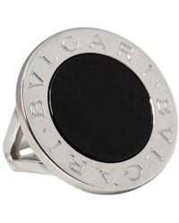bvlgari white gold ring lyst