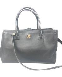 Chanel - Executive Black Leather Handbag - Lyst