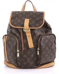 9223d0319ce9 Louis Vuitton - Pre-owned Bosphore Backpack Brown Cloth Backpacks - Lyst