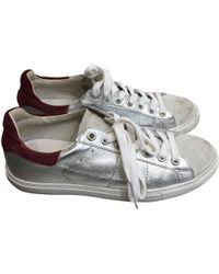 IRO - Silver Leather Trainers - Lyst