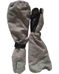 Moncler - Grey Wool Gloves - Lyst