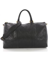 Chanel - Pre-owned Black Leather Travel Bags - Lyst