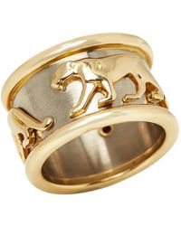 Cartier - Vintage Panthère Yellow Yellow Gold Ring - Lyst