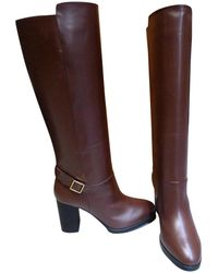 Tod's - Brown Leather Boots - Lyst