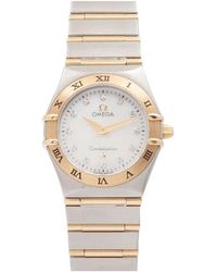 Omega Constellation Silver Gold And Steel Watch - Metallic