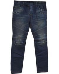 Balmain - Pre-owned Blue Cotton Jeans - Lyst
