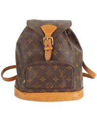 Louis Vuitton | Pre-owned Montsouris Cloth Backpack | Lyst