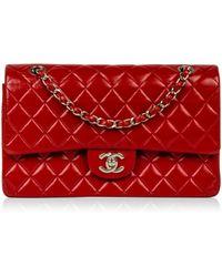 9ce504ec12dd Chanel Vintage Timeless/classique Blue Leather Handbag in Blue - Lyst