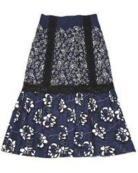 e97a2724f3 Lyst - CJ by Cookie Johnson Steward Denim Maxi Skirt in Blue