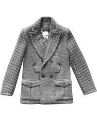 Chanel - Pre-owned Grey Wool Jackets - Lyst