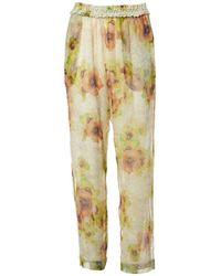Isabel Marant - Multicolour Silk Trousers - Lyst