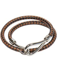 Hermès - Pre-owned Jumbo Leather Bracelet - Lyst