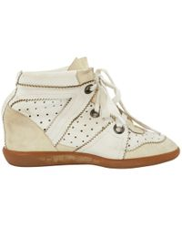abf22f9909e Isabel Marant - Betty White Leather Trainers - Lyst