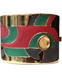 Lanvin - Vintage Multicolour Metal Bracelets - Lyst